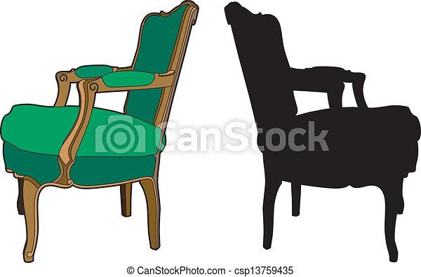 green armchair vector illustration of furniture rh canstockphoto com