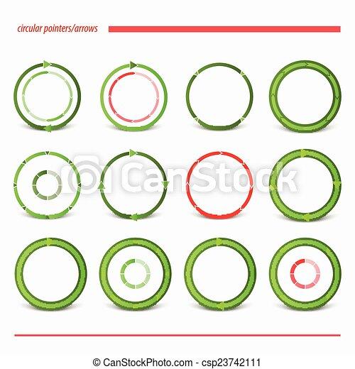 green arrows - csp23742111