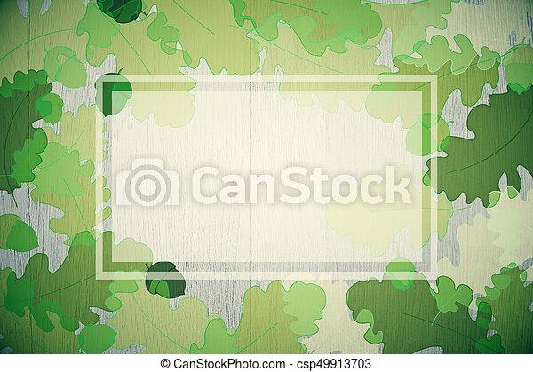 Green autumn foliage background - csp49913703