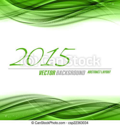Green Background 2015 - csp22363034