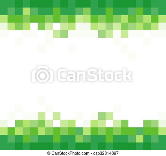green background with mosaic effect  vector