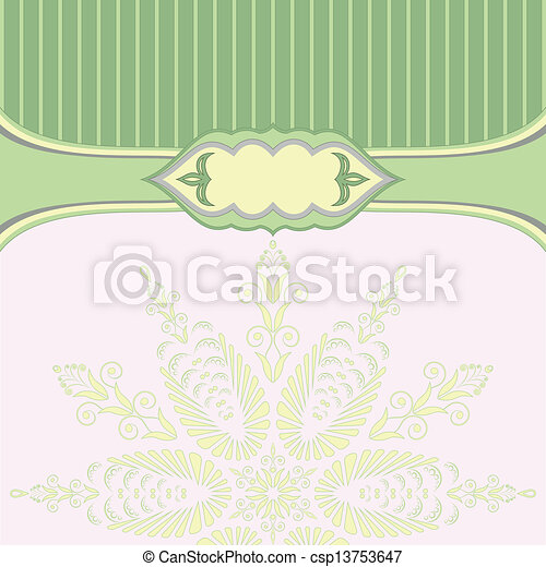 Green background with pattern - csp13753647