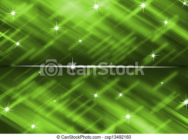 green background with star glitter abstract - csp13492160