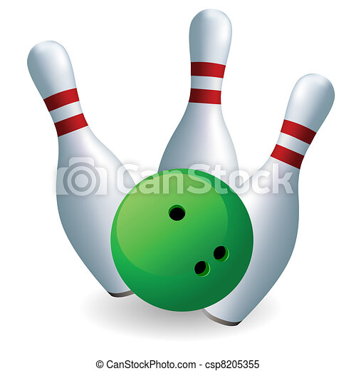 green ball and skittles bowling skittles and ball on a clipart rh canstockphoto com skittles clip art free pub skittles clipart