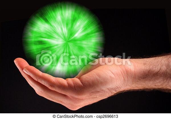 Green Ball of Light - csp2696613