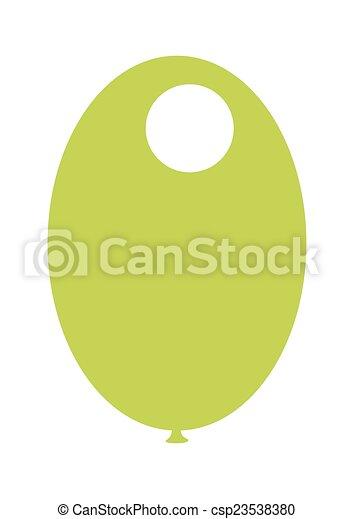 Green Balloon - csp23538380