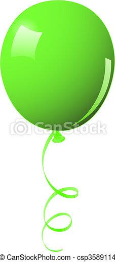 Green balloon - csp3589114