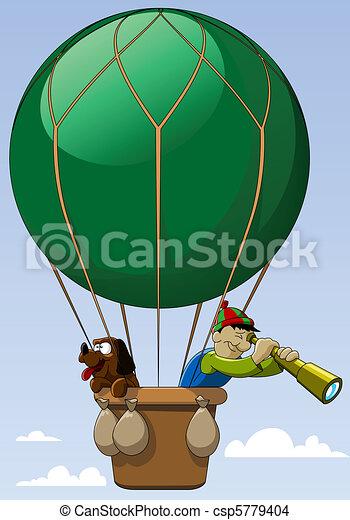 Green balloon - csp5779404