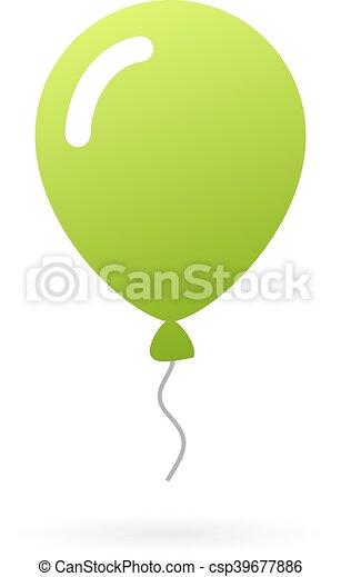 Green balloon icon - csp39677886