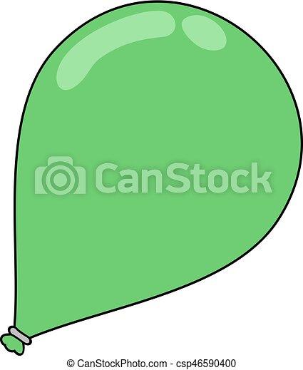 green balloon - csp46590400