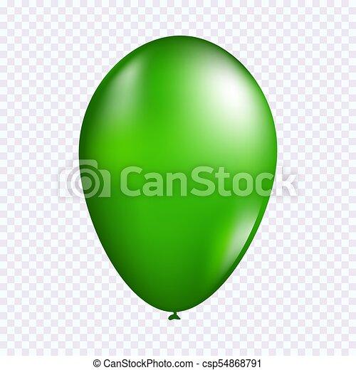 Green balloon vector - csp54868791