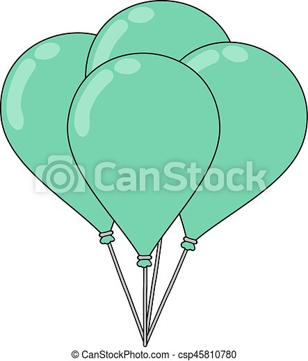 green balloons - csp45810780