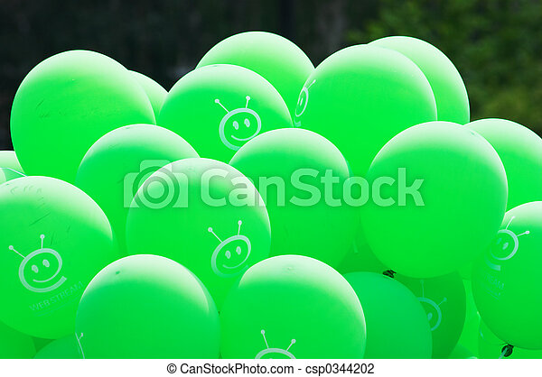 Green baloons - csp0344202