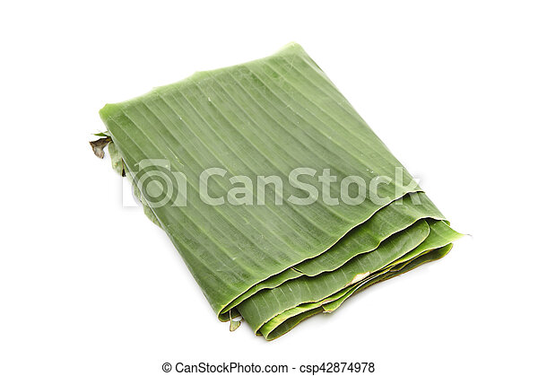 Green banana leaf - csp42874978