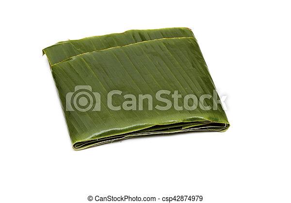 Green banana leaf - csp42874979