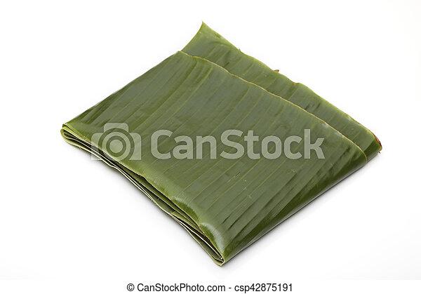 Green banana leaf - csp42875191