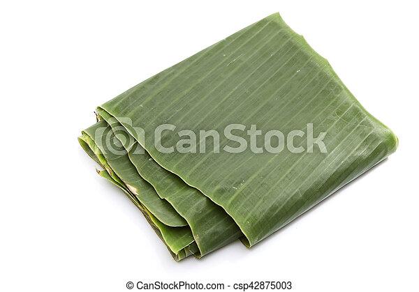 Green banana leaf - csp42875003