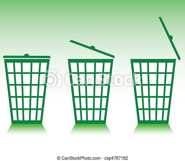 green basket illustration - csp4787182