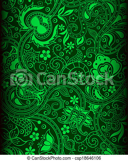Green Batik Background Green Color Batik Pattern Background Impressive Green Pattern Background