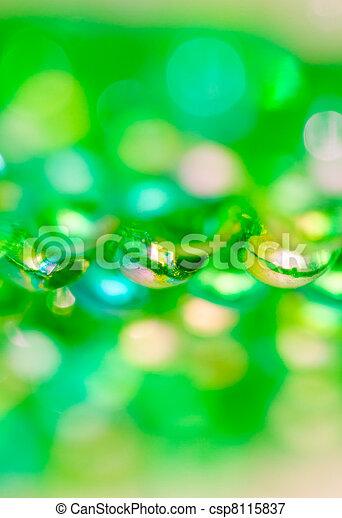 Green Beads Background II - csp8115837