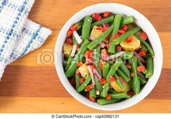 green bean and potato salad - csp43982131