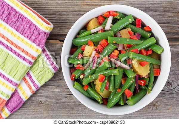 green bean and potato salad - csp43982138