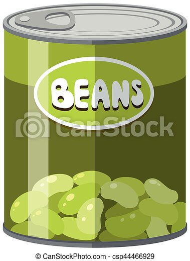 Green beans in aluminum can - csp44466929