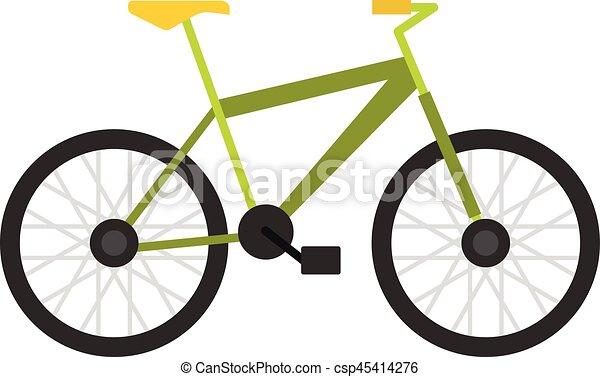 Green bike icon, flat style - csp45414276