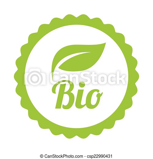 Green Bio icon or symbol - csp22990431