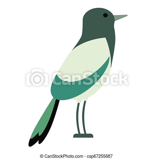 green bird flat illustration - csp67255687