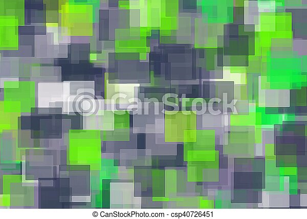 green black and white square pattern abstract background - csp40726451
