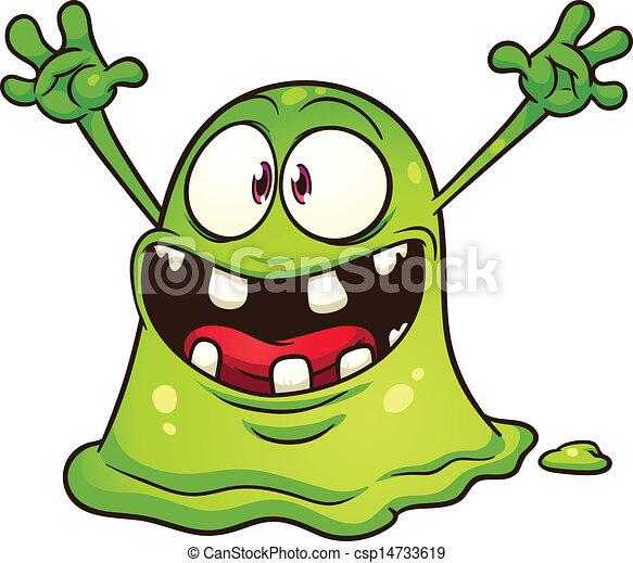 green blob monster vector clip art illustration with simple rh canstockphoto com monster vector free monster vector cdr