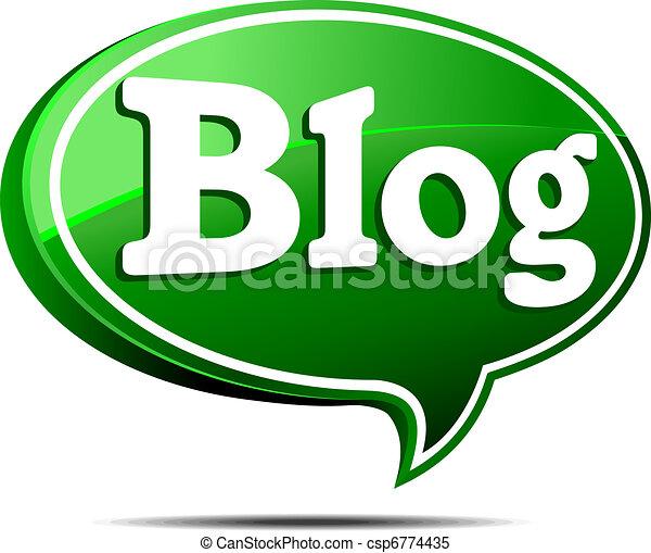 Green Blog Speech Bubble - csp6774435