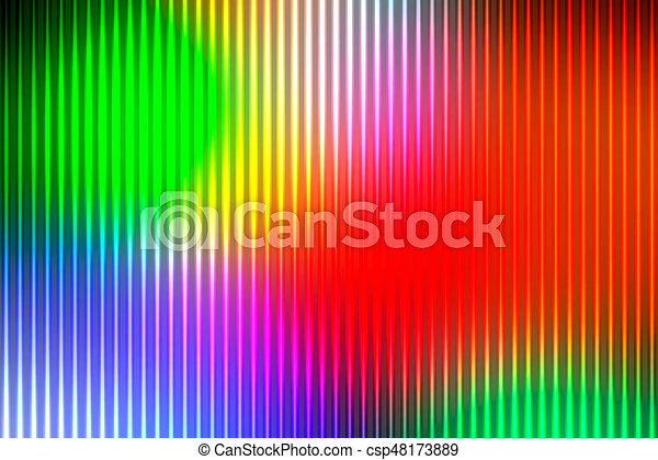 Green blue orange red abstract with light lines blurred background - csp48173889
