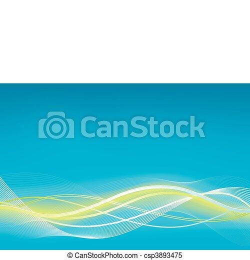 Green blue wave vector background - csp3893475
