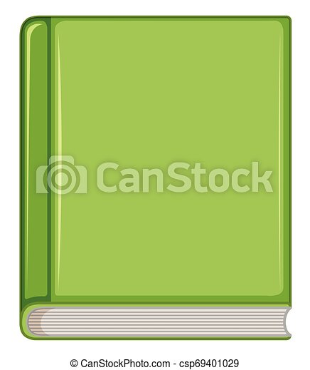 Green book on white background - csp69401029