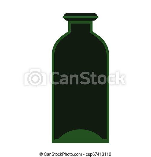 green bottle flat illustration on white - csp67413112