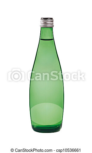 Green bottle. On a white background. - csp10536661