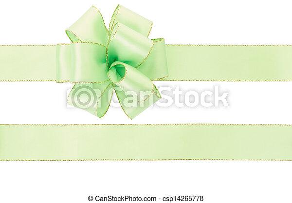 Green bow and ribbon - csp14265778