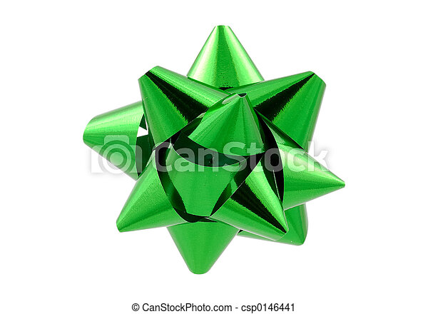Green Bow - Clipping Path - csp0146441