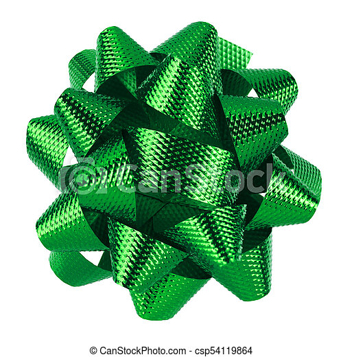 Green bow isolated - csp54119864