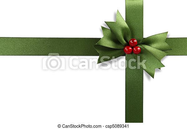 Green bow - csp5089341