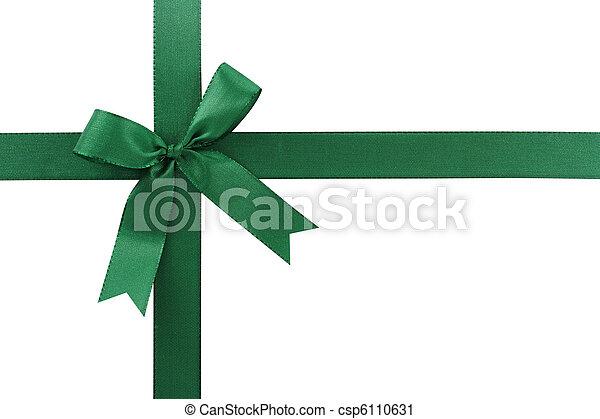Green bow - csp6110631
