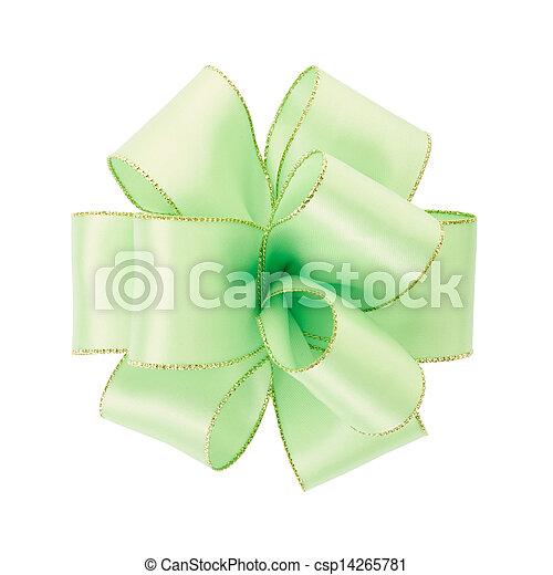 Green bow - csp14265781