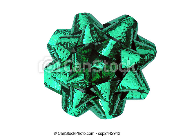 Green Bow With Texture - csp2442942