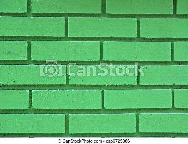 Green Brick Wall - csp0725366