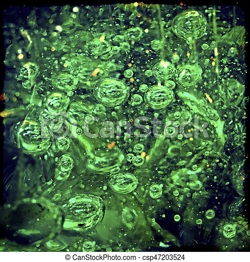 Green Bubbles Floating - csp47203524