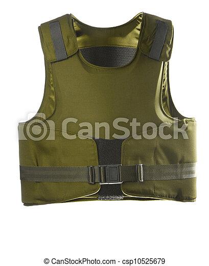 Green Bulletproof vest - csp10525679
