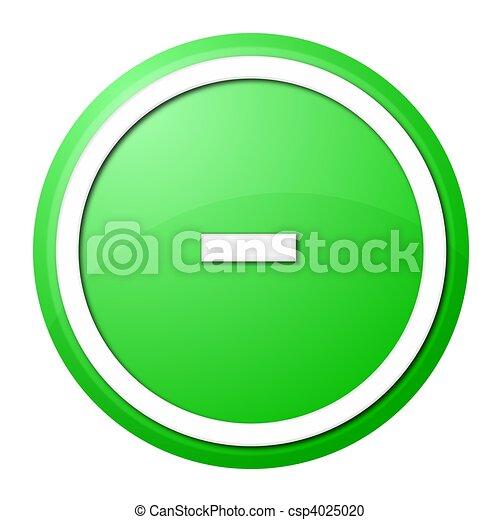 Green Button Minus - csp4025020