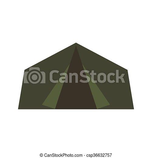 Vector Green Camping Tent